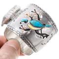 Turquoise Blue Bird Native American Watch Bracelet 40203