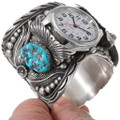 Sterling Silver Native American Turquoise Watch Cuff 40208