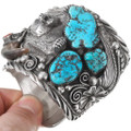 Vintage Natural Sleeping Beauty Turquoise Nugget Watch Cuff 40208