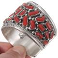 Red Coral Navajo Watch Bracelet 40209