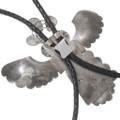 Authentic Navajo Handmade Silver Kachina Bolo Tie Artist Signed 40221