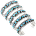 Sterling Silver Natural Kingman Turquoise Cuff Bracelet 40223