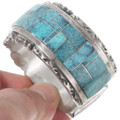 Spiderweb Turquoise Native American Bracelet 40226