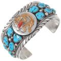 Gold Kokopelli Turquoise Bracelet 40228