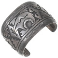 Old Pawn Sterling Silver Heartline Bear Bracelet 40231