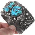 Vintage Sleeping Beauty Turquoise Old Pawn Navajo Bracelet 40241