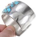 Sterling Silver Cuff Inlay Thunderbird Design Navajo Bracelet 40248