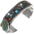Vintage Micro Inlay Night Sky Cuff Bracelet 40253