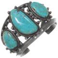 Old Pawn Three Stone Turquoise Bracelet 40255