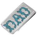 Native American Turquoise DAD Money Clip 40257