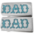 Money Clip for Dad Turquoise Lettering 40257