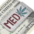 Turquoise Marijuana Leaf Silver Money Clip 40258