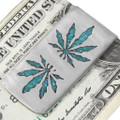 Native American Turquoise Cannabis Money Clip 40259