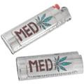 Turquoise Medicinal 420 Silver Bic Lighter Case  42058