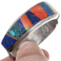Spiderweb Turquoise Spiny Oyster Inlay Bracelet 40265