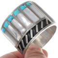 Sterling Silver Cuff Zuni Inlay Bracelet 40266