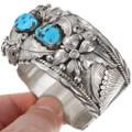 Sleeping Beauty Turquoise Sterling Silver Bear Claw Bracelet 40268