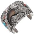Large Vintage Turquoise Bear Claw Bracelet 40269