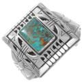 Vintage Turquoise Sterling Silver Navajo Bracelet 40271