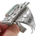 Hand Sawn Silver Navajo Pattern Number 8 Turquoise Bracelet 40271