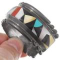 Sterling Silver Cuff Inlaid Native American Bracelet 40274