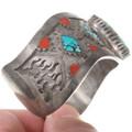 Spiderweb Turquoise Native American Bracelet 40276