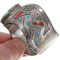 Sterling Silver Turquoise Inlay Cuff Bracelet 40276