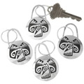 Hopi Style Silver Overlay Southwest Key Chain 40285