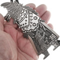 Large All Sterling Silver Becenti Kachina Bolo Tie 40290