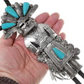 Handmade 3D Sterling Silver Kachina Bolo Tie 40291