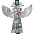 Large Collectible Sterling Silver Kachina Bolo Tie 40292