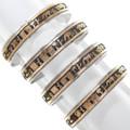 Navajo Reservation Scene Gold Navajo Bracelet 40300