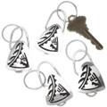 Pueblo Symbol Silver Overlay Key Ring 40302