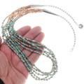 Green Turquoise Heishi Bead Necklace 40338