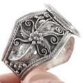 Opal Inlay Sterling Silver Cuff Bracelet 40340
