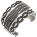 Vintage Heavy Gauge Silver Navajo Cuff Bracelet 40341