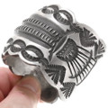 All Sterling Silver Navajo Bracelet 40341