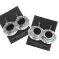 Silver Western Turquoise Dangle Earrings 40352