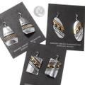 Native American Gold Silver Dangle Earrings 40356
