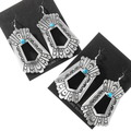 Silver Turquoise Southwest Dangle Earrings 40359