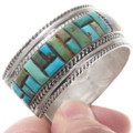 Turquoise Cobblestone Inlay Silver Southwest Bracelet 40363