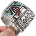 Sterling Silver Cuff Turquoise Inlay Zuni Bracelet 40369