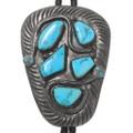 Old Pawn Zuni Turquoise Snake Bolo Tie 40372