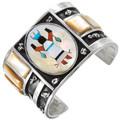 Vintage Navajo Inlaid Kachina Bracelet 40384