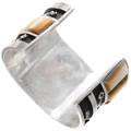 Authentic Navajo Kee Tso Spencer Silver Kachina Bracelet Signed 40384