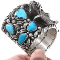 Bear Claw Turquoise Cuff Native American Bracelet 40388