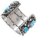 Authentic Navajo Curtis John Bear Claw Bracelet Artist Signed 40388