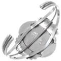 Sterling Southwest Cuff Bracelet Navajo Artist Signed 28283