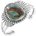 Spiderweb Turquoise Sterling Silver Navajo Bracelet 40396