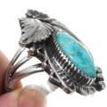 Navajo Turquoise Silver Ring 27129